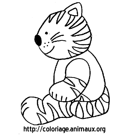 Coloriage chat à rayures