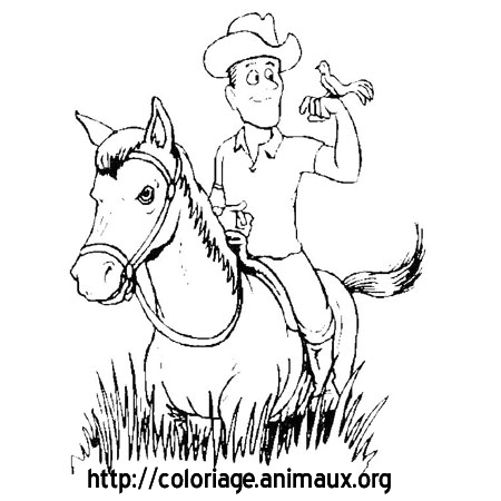 Coloriage Homme Cheval.Cheval Et Homme Coloriage Cheval Et Homme Sur Coloriage Animaux Org