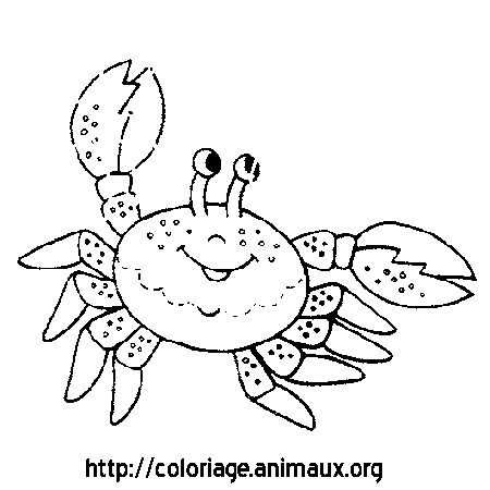 Coloriage crabe sourit