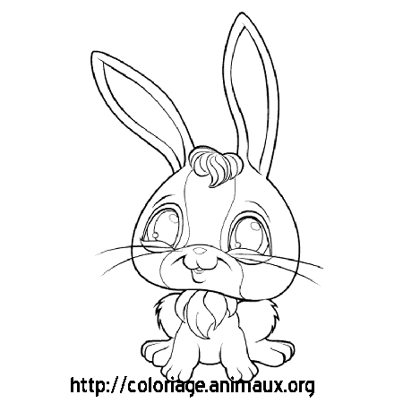 Coloriage lapin assis