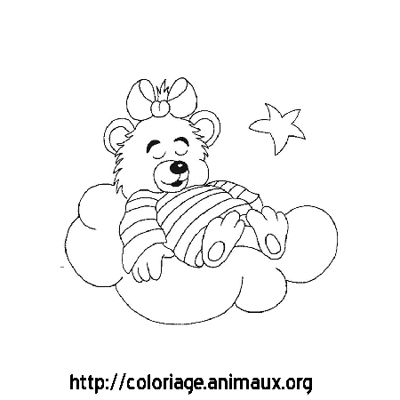 Coloriage ours se repose