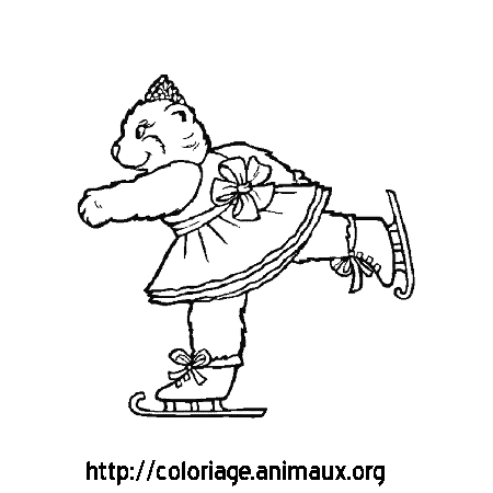 Coloriage ours patine