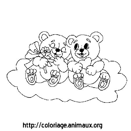 Coloriage oursons