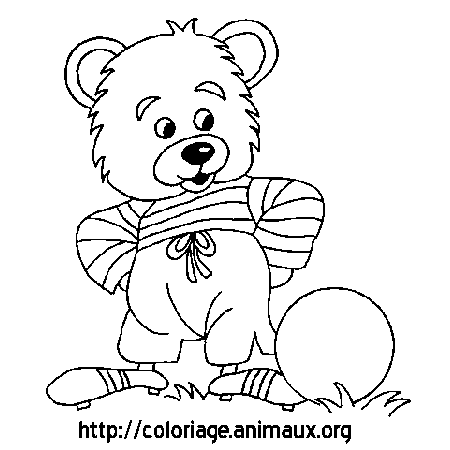 Coloriage ours football