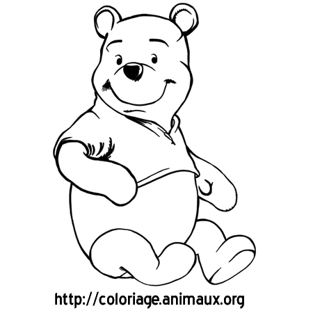 Coloriage ours winnie