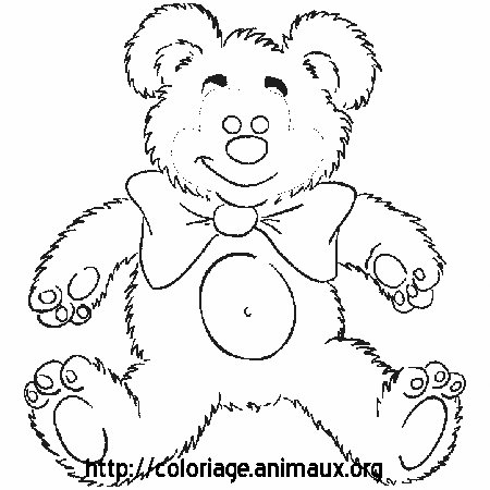 Coloriage peluche ours
