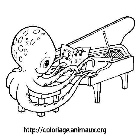 Dessins de instruments de musique colorier coloriage piano - Coloriage piano ...